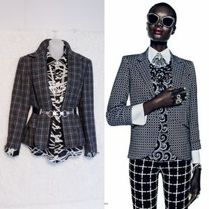 2XHP🏆 90's Vintage Plaid Blazer